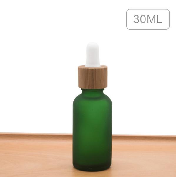 30ml bereifte Flaschen grün