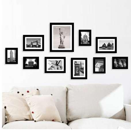 10Pcs Family Picture Multi Photo Frame Set Holds 10 Photos Aperture Wall Mounted DIY Gift Home Decoration