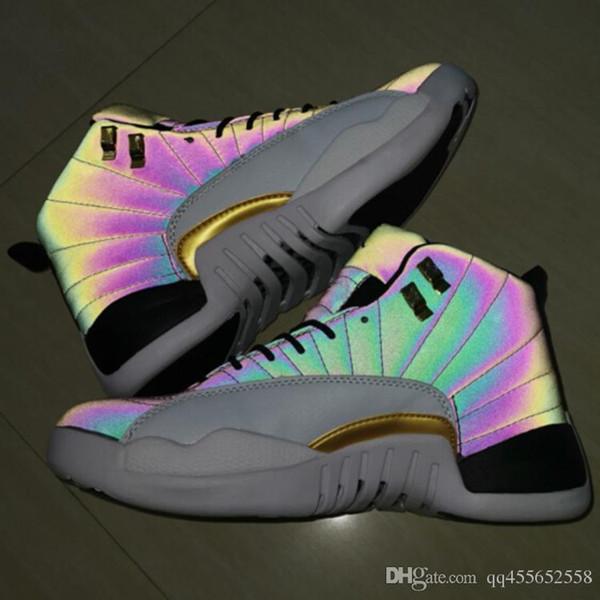 Alta qualità 2019 Nuovo 12s CNY cinese nuovo anno scarpe da uomo 12 CNY bianco nero oro scarpe da ginnastica sportive con scarpe Box