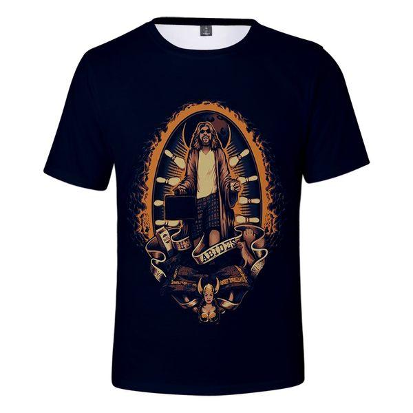 Cómodo Popular Adecuado The Big Lebowski Casual camiseta niñas niños The Big Lebowski Mujeres Hombres camiseta 3D Camisetas de manga corta