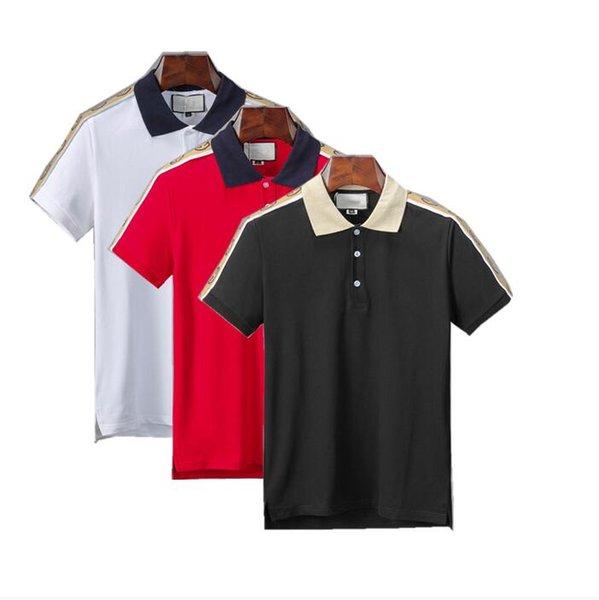top popular 2020 Summer Street Wear Designer Polo Shirts Men Luxury Brand Tshirt Sweaters Mens Casual Tee Shirt Fashion Print Crew Neck Cotton Polos 2020
