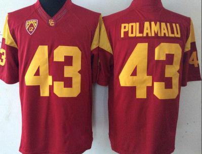 #43 Troy Polamalu Red