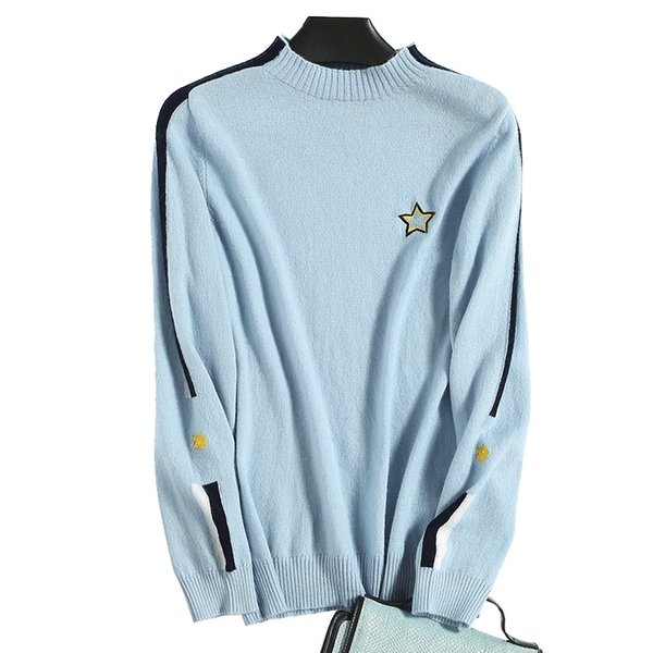Famale Korean Kawaii Cute Cartton Star Embroidered Sweater Wool Cashmere Women's Sweaters Harajuku Clothing For Women Pullover