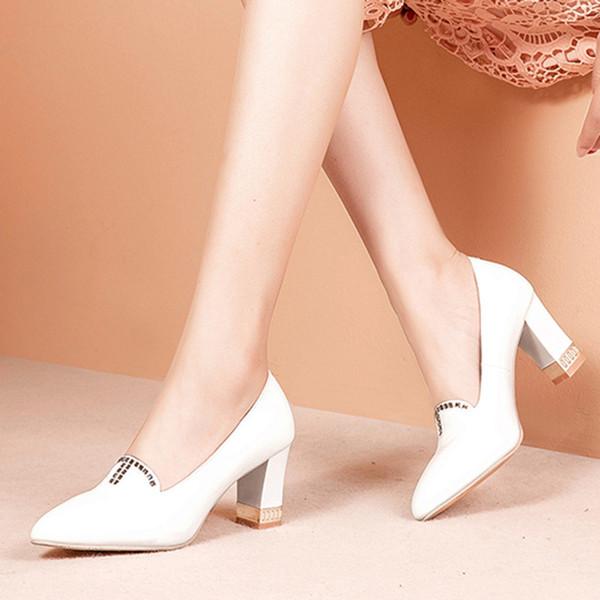Designer Dress Shoes Plus Size Womens Dress High Heels Woman Wedding Pumps Crystal Bridal Designer Ladies Bridal 6701