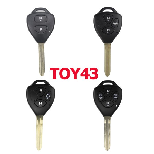 2/3/4 Btn Remote Car Key Case Shell Fob For Toyota Yaris Prado Tarago Camry Corolla Rav4 Reiz Crown Avalon Venza 2007-2012 Toy43