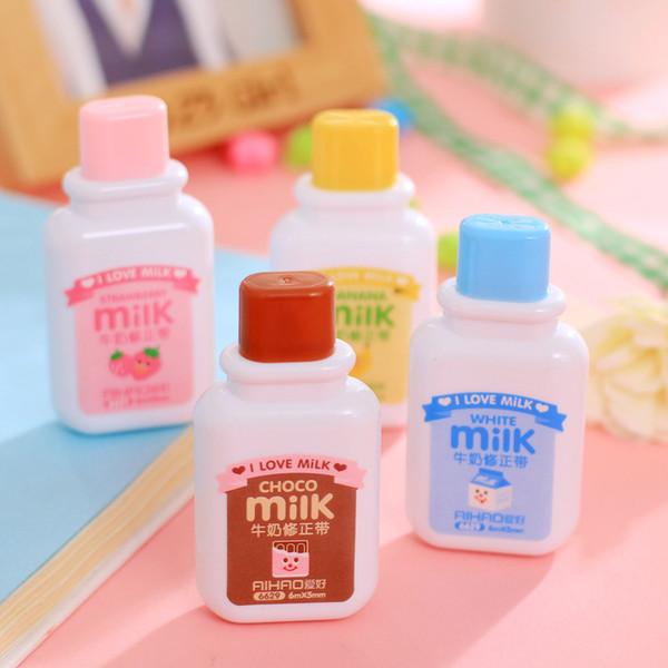 Cartoon Feeding Bottle Correction Tapes Articoli per ufficio creativi svegli per i bambini Opzioni multiple Rosa Marrone Giallo E Blu