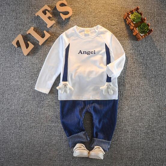 Детская одежда Топы с капюшоном Брюки Baby boy Камуфляжная Одежда Зимний костюм с длинными рукавами 2 шт. Набор