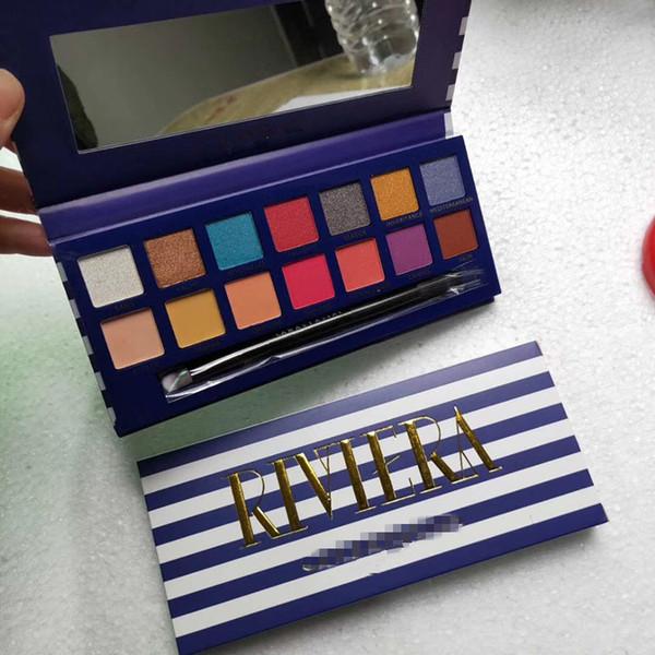 2019 NUOVE palette di trucco di marca RIVIERA 14 colori Tavolozze di ombretti Shimmer Matte Ombretto soft novina palette moderna