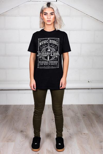 Resmi Johnny Nakit Asi Unisex T-Shirt San Quentin Unearted Kişisel Dosya Erkekler Kadınlar Unisex Moda tişört Ücretsiz Nakliye