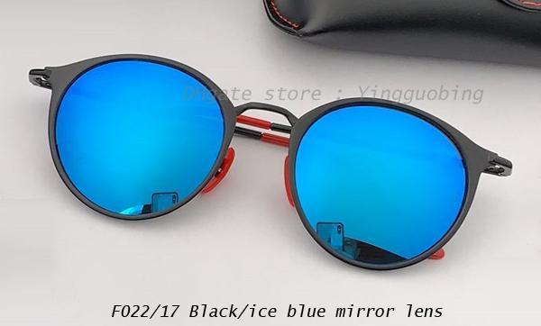 schwarz / eisblauer Spiegel