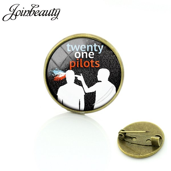TAFREE Twenty One Pilots Music Band Brooch Special Birthday Offer Their Fans Pins For Like Hip-Pop Round Glass Jewelry H269