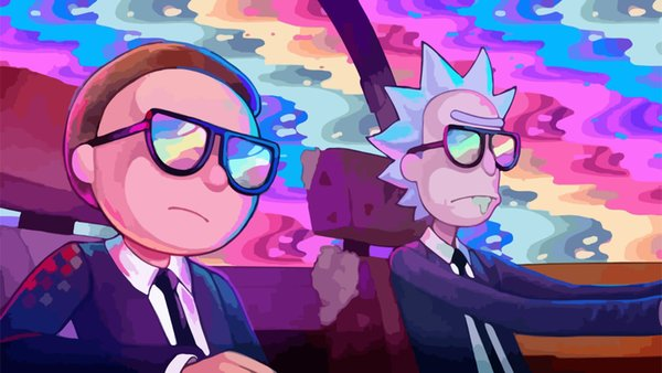 Rick And Morty TV Show Psychedelic Decor wall Art Silk Poster 24x36inch 24x43inch