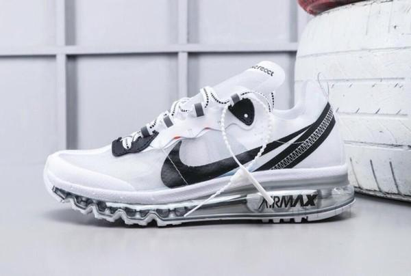 Men's Nike Air Max 2018 Elite KPU TPU Shoes WhiteBlack