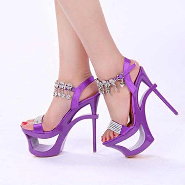 Hot sale Women's Ankle Strap Super High Heel Platform sandals open toe sexy party Dress Sandals