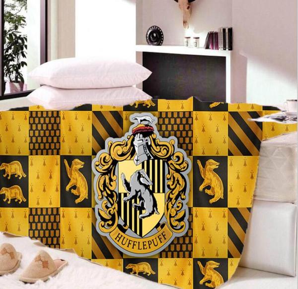 Harry Potter Blanket Winter Dual Layers Fleece Blankets Gryffindor