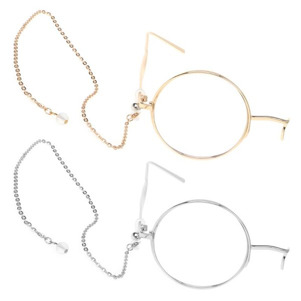 Optical Glasses With Chain Anti Fall One Eye Fashion Round Metal Frame Eyewear Steam Punk Style Vintage Eyeglasses Unisex Retro