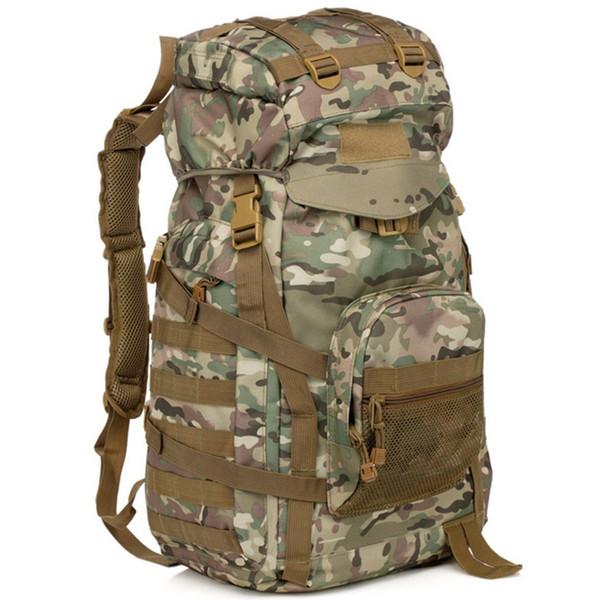 camouflage 60L tactical bag Assault Pack Multifunctional Backpack Outdoor molle Rucksack sport Bag Hunting Camping Trekking Hiking Travel
