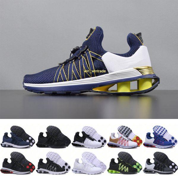 Erkek Shox Yerçekimi Metalik Koşu Ayakkabıları Açık Eğitmenler Mesh Üçlü Altın Beyaz Siyah Oreo Mavi Spor Yürüyüş Tasarımcı Sneakers 40-46