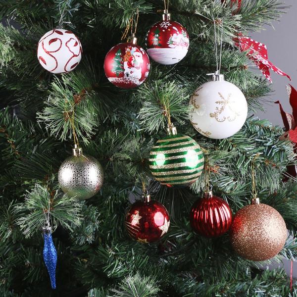 Arbre de Noël Boule Party Decoration suspendu Ornement Babiole Pendentif cadeau Goutte