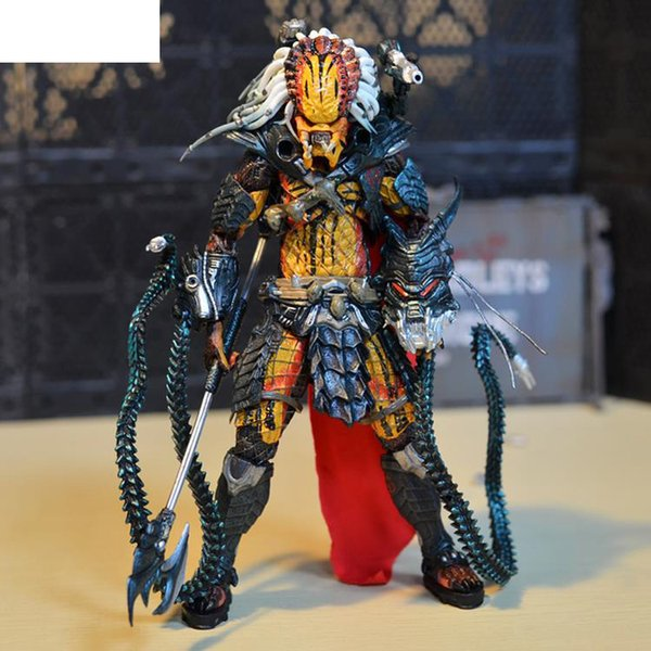"movie anime figurine NECA Predator Clan Leader Alien Hunter 7"" Action Figure Ultimate Deluxe Collectible Model Toy"