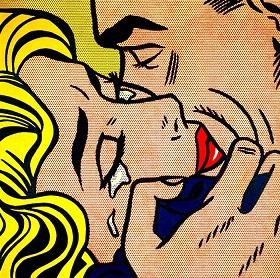 Roy Lichtenstein Kiss V High Quality HandPainted &HD Print Abstract Pop Portrait Wall Art Oil Painting On Canvas Home Decor Multi sizes R25