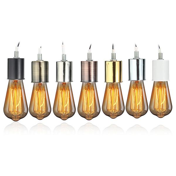 Antique Edison En Céramique À Vis Ampoule Accrocher Socket Base De La Lampe Fixation Support pour E27 À Vis Ampoules
