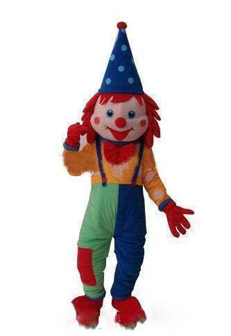 High quality Happy Dramatic The Japanese Clown Mascot Costume Fancy Birthday Party Dress Halloween Carnivals Costumes