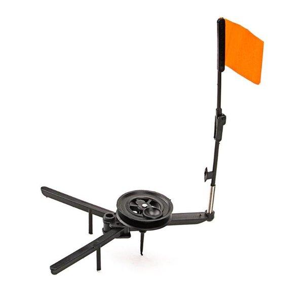 Inverno ABS Ice Fishing Flag Marker Rod Tip-Up mano libera Ice Compact Pole Bandiera arancione Accessori per barche
