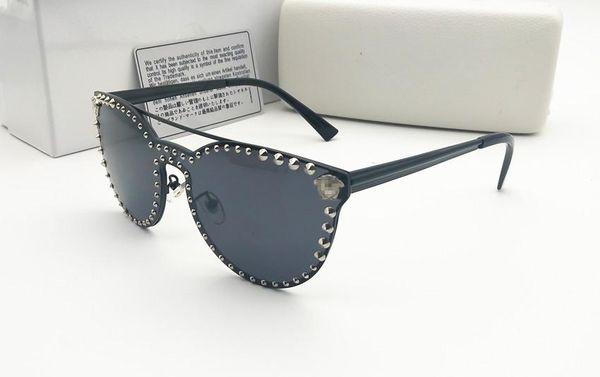 Yüksek Kalite Mens Womens Degrade Pilot Güneş Gözlüğü Gözlük Tasarımcısı Vassl Güneş Gözlükleri Altın Çerçeve Beyaz Durumlarda Ile Mavi Cam Lensler