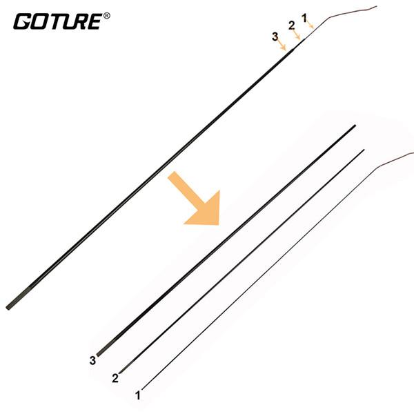 Goture Brand GOLDLITE SERIES Carp Fishing Rod Top Three Tips (Top Three Sections)