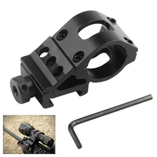 Airsoft Ring Rail Mount Offset Ring Side Gun Torch Mount For Flashlight Laser / Rifle Scope Mount Fit 20mm Rail