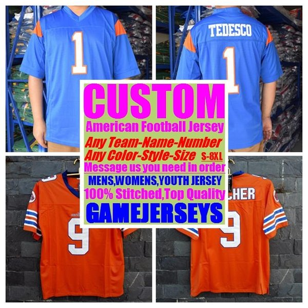top popular 2019 Customized american football jerseys college cheap authentic baseball sports jersey stitched mens womens youth kids 4xl 5xl 6xl 7xl 8xl 2019