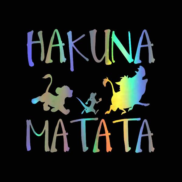 13.8cm*13.3cm Car Stickers Fashion HAKUNA MATATA Lion King Simba Car-Styling Vinyl Car Sticker Decal Window Wall Door Stickers