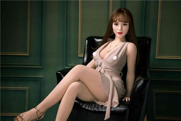 Venda Hot 140 centímetros Beleza japonês real Silicone Sex Dolls por Homens Big Ass Vagina Oral Anal TPE borracha Mulher frete grátis