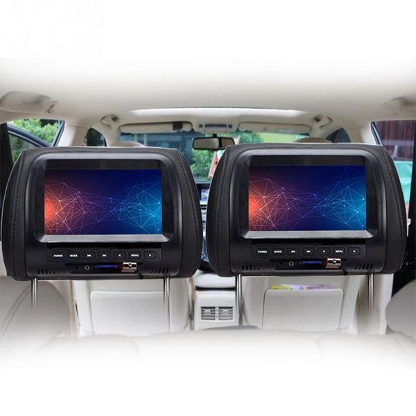 best selling 7 inch TFT LED screen Car Monitors MP5 player Headrest monitor Support AV USB Multi media  FM Speaker Car DVD Display Video 720P