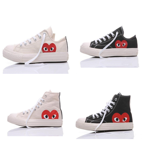 [Original Box]2019 New 1970s Canvas Skate Shoes Originals Classic 1970 Canvas Shoes Jointly Name CDG Play Big Eyes skateboard Casual Sneaker