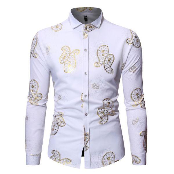 Новые горячие продажи рубашки мужчины кешью цветок золочение Европейский код длинный рукав рубашки мужчины 4 цвета размер S-XL для бесплатной доставкой