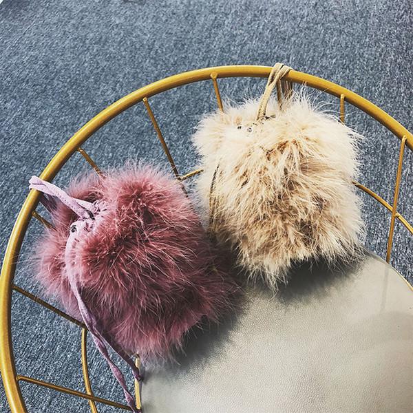 Faux Fur Bags For Women Messenger Bag Fashion 2019 Bucket Women Cross Body Bag Fashion Brand Girls Phone Purse Bags New
