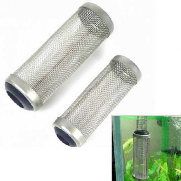 Stainless Steel Metal Filter Tube Aquarium Filter Inflow Inlet Basket Mash Shrimp Guard Protect
