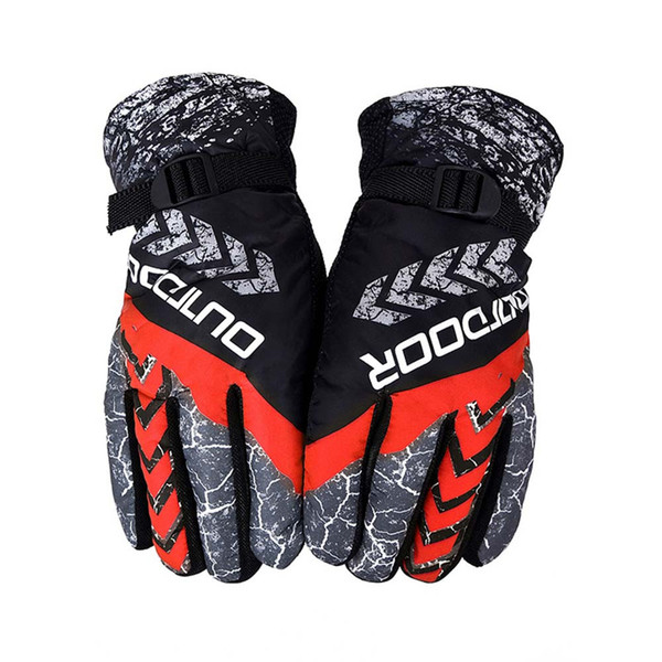 Men Women Winter Waterproof Full Finger Gloves Skiing Snow Warm Mitten Antislip Thermal Winter Fashion warm Gloves