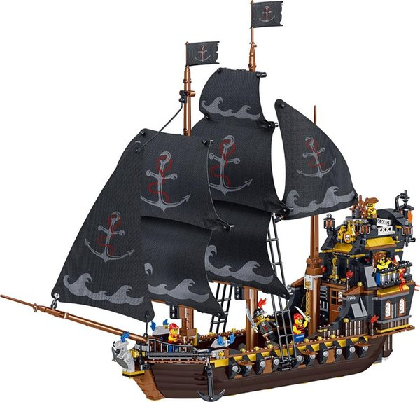 best selling Hotselling ed Pirate Ship Compatible Yongheng Buildingblock Toys Compatible with ed DIY Educating Children Christma Gift