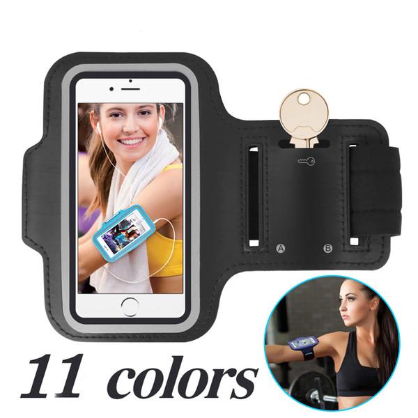 Evrensel Spor Armband Vaka iphone 6 S 7 8 Artı X Samsung S8 S9 Akıllı Telefonlar için Koşu Telefonu Çanta Kol Bandı