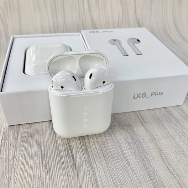 iX6 Plus TWS Touch Wireless Earbuds Bluetooth 5.0 Stereo Headphones Auto Power ON Auto Paring On Smart Display Power Touch Using Siri