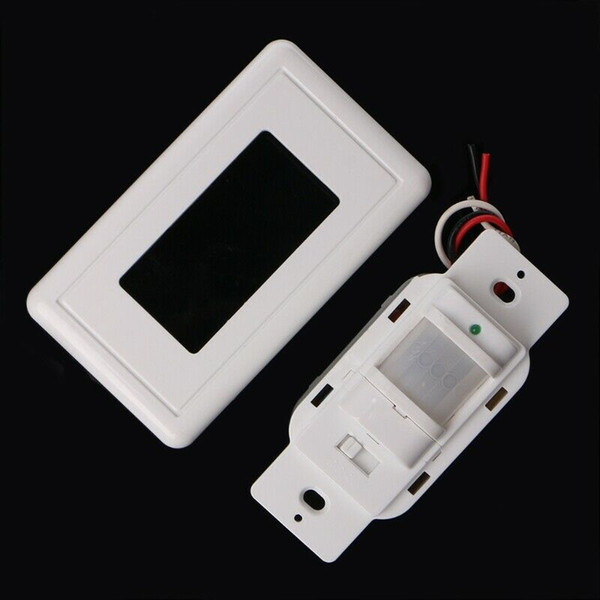 Smart PIR Motion Sensor Switch AC 85V - 230V Recessed Infrared Auto Control ON/Off Wall switch Human body induction Detector Smart PIR Motion Sensor Switch AC 85V - 230V Recessed Infrared Auto Control ON/Off Wall switch Human body induction Detector