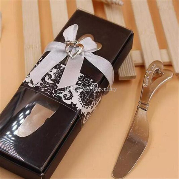 Spread The Love Heart-Shaped Heart Shape Handle Spreaders Spreader Butter Knives Knife Wedding Gift Favors aa503-510 2017120910