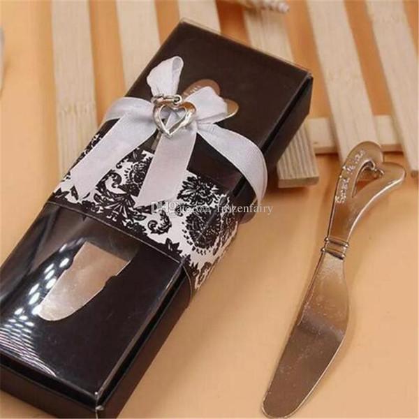 Verbreiten Sie die Liebe herzförmige Herzform Griff Spreizer Spreader Butter Messer Messer Hochzeitsgeschenk begünstigt aa503-510 2017120910