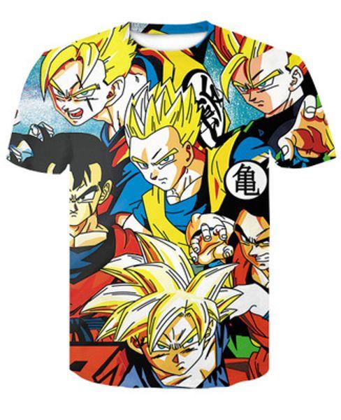 Conjuntos de alta calidad de verano Dragon Ball Z Goku Me camiseta hombres marca ropa moda casual camisetas Ypf304