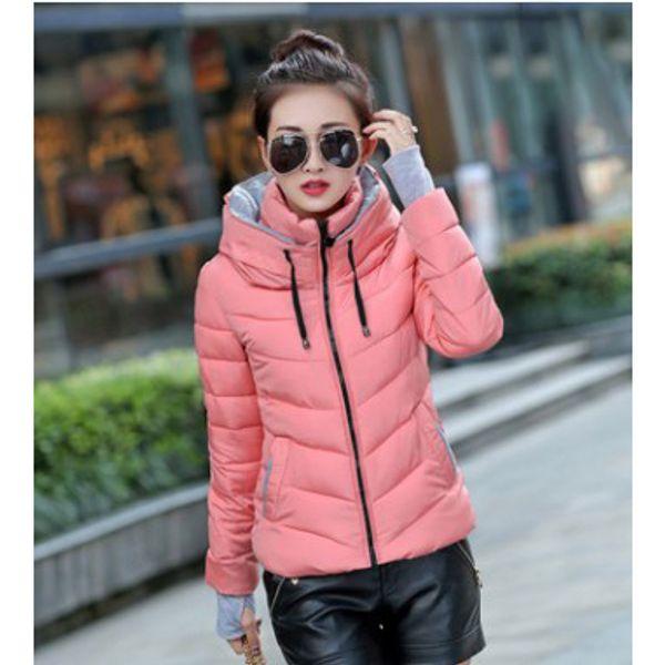 Les femmes d'hiver 2020 Vêtements Femmes Designer Couleur unie stand manches longues veste vers le bas WITN Zipper Hiver chaud vente Slim Coat Casual gros