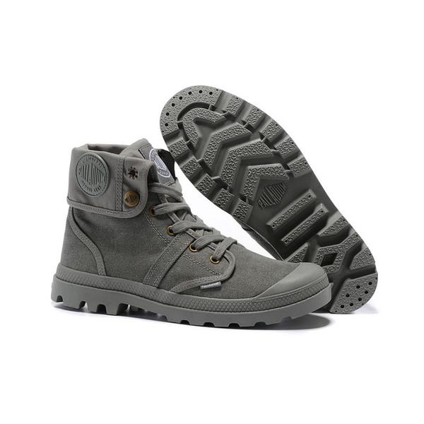 Hot Sale-haut hommes PALLADIUMArmy bottine militaire de Pallabrouse aider les chaussures de toile du désert chaussures de sport hommes chaussures ANTISKID 39-45