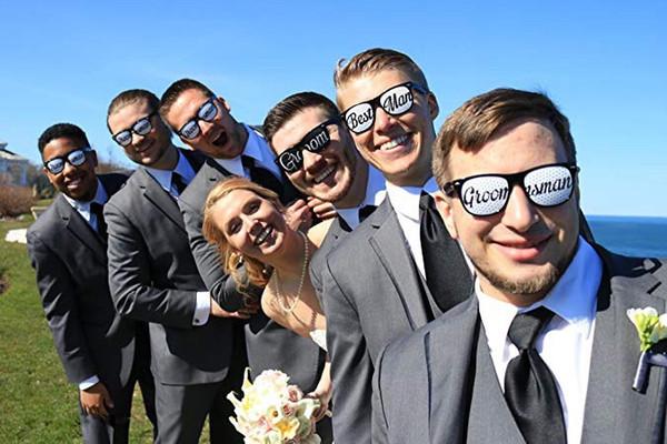 Novedad Gafas Nupcial Bachelorette Party Favors Bride To Be Wedding Party Favor de Hen Decoración Suministros
